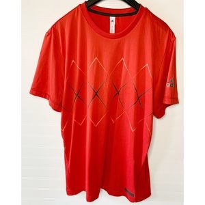 Adidas Men's Red Barricade Code Tee
